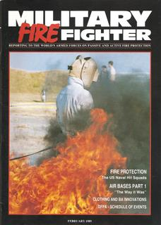 Front Cover Page of Military FireFighter Magazine